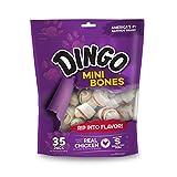 Dingo P-25002 Mini Bones, Rawhide For Small/Toy Dogs,White, 35-Count