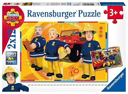 Ravensburger Kinderpuzzle 07584 - Sam im Einsatz - 2 x 12 Teile