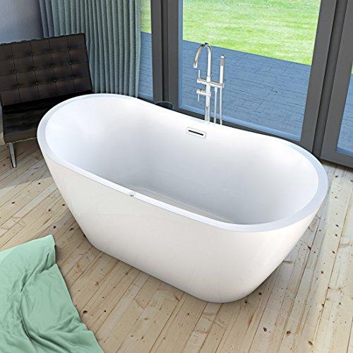AcquaVapore freistehende Badewanne Wanne FSW13 180x80cm Whirlpool Luftmassage, Armatur:mit Armatur AFSW04 +170.-EUR