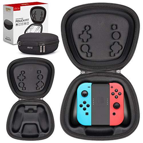 Sisma Aufbewahrung Tasche für Offizielle Nintendo Switch Joy-Con Controller und Halterung, Joycon Hardcase Tragetasche Schutz Hülle, Schwarz