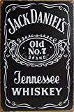 Jack Daniel's: Tennessee de botella de whisky, de Metal, diseño Vintage de pared diseño de Decor, tamaño 20,32 cm X 30,48 cm