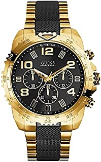 GUESS Men U0598G4 Stainless Steel Gold-Tone and Black Chronograph Watch