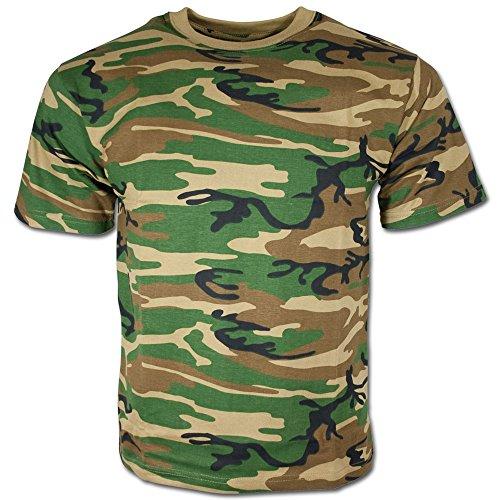 MFH T-Shirt de Camouflage pour Homme de l'armée américaine (Woodland/XL)