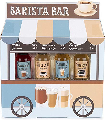 Modern Gourmet Foods - Kaffee Sirup Geschenkset - 4 Individuelle Geschmacksrichtungen - Barista Bar Food Truck Set