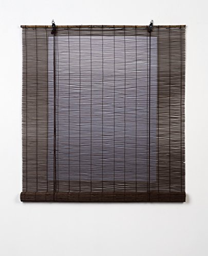 Estores Basic Natural Enrollable, Bambú, Wengué, 120x170cm