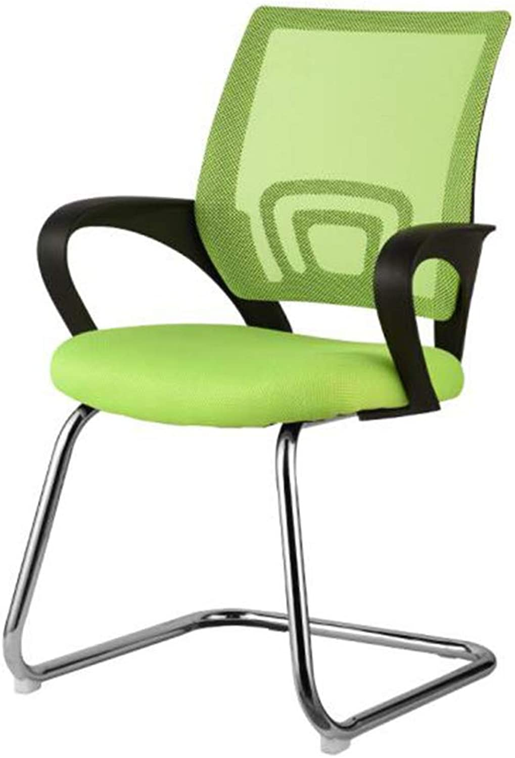 XUERUI Armchairs Chair Computer Desk Mesh Mid Back with Breathable Foam Pad and Steel Frame Black Green orange Furniture (color   Green)