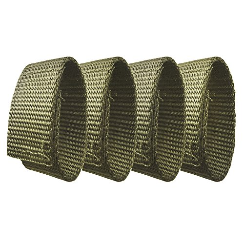 Fusion Tactical Military Police Patrol Belt Keeper Adjustment Strap Loop 1.75' Wide/7' Long Set of 4 Coyote Brown
