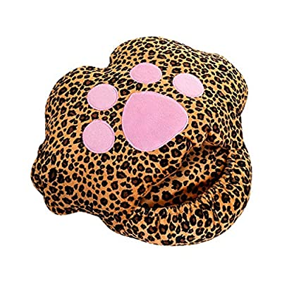 Shan-S Foot Warmer, USB Electric Heated Plug-in Winter Warm Foot Hand Warmer Feet Shoes Heater Cat Patterns Plush Washable Heating Slippers Sofa Pillow Heating Pad