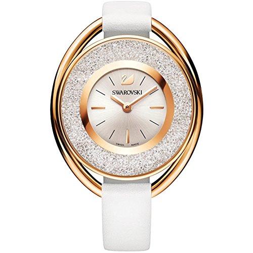 Ladies' Swarovski Crystalline Oval Gray Tone Watch 5230943