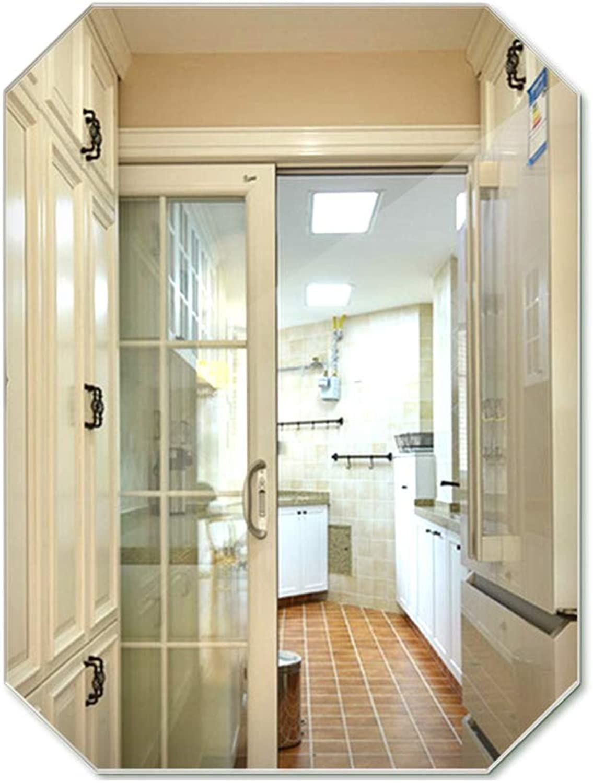 Mirror Diamond Bathroom Mirror Side Bathroom Mirror Washing Mirror Wall-Mounted Polygonal Decorative Mirror Bathroom Mirror