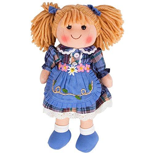 Bigjigs Toys Poupée 28cm Katie   Jouet Enfant   Jeu Traditionnel Enfant   Nounours   Jouet Enfant   Cadeau Enfant   Jouet pour Fille