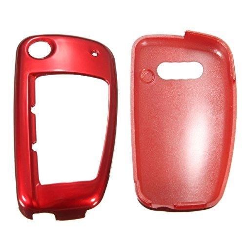 C-FUNN À Distance Flip Clé Couverture Shell Fob Protection pour Audi A1 A3 A4 A6 Q3 Q5 TT Nous-Rouge
