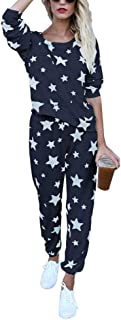 hellomiko Combinaison /à imprim/é Floral Combishort pour Femme Pantalon Long Grande Taille Salopette