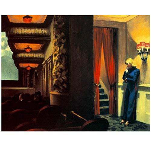 Edward Hopper Beste Tapete Wandkunst Leinwand Malerei Poster Drucke Moderne Malerei Wandbild Für Wohnzimmer Wohnkultur Kunst 50X60Cm Ohne Rahmen