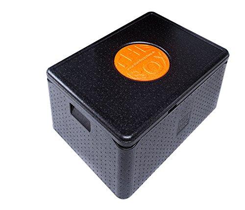 THE BOX EPP ABM 68,5 x 48,5 x 36,5 cm Thermobox Warmhaltebox SCHWARZ NEU