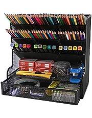 Mesh bureau-organizer Multifunctionele desktop briefpapier pennenhouder voor thuiskantoor schoolbenodigdheden opbergrek