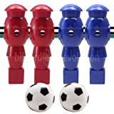 Billiard Evolution 4 Red and Blue Robotic Foosball Men and 2 Soccer...