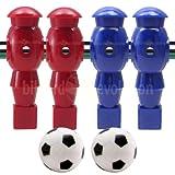 Billiard Evolution 4 Red and Blue Robotic Foosball Men and 2 Soccer Balls