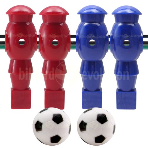 Billiard Evolution 4 Red and Blue Robotic Foosball Men and 2...