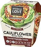 Kitchen & Love Peruvian Vegetable Ceviche Cauliflower Quick Meal 6-Pack | Vegan, Gluten-Free, Keto, Ready-to-Eat, No Refrigeration Required