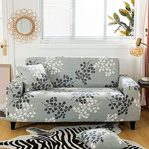 WXQY Fundas con Estampado Floral Funda de sofá elástica elástica Funda de sofá de protección para Mascotas Esquina en Forma de L Funda de sofá con Todo Incluido A12 4 plazas