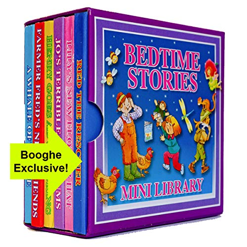 Range Wholesale Bedtime Stories Mini Library - Set of 6 Children's Story Books Gift