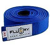 FLUORY BJJ Cinturón brasileño, Jiu Jitsu con color blanco, morado, azul, marrón, negro para tamaño A0, A1, A2, A3, A4 (BTF01lan, A2)