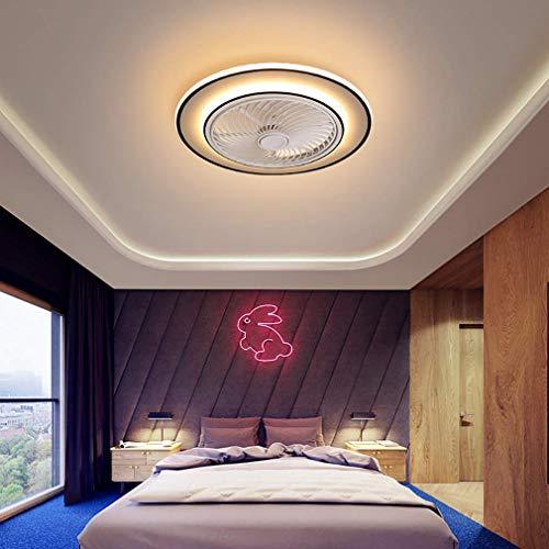 NZDY - Ventilador de techo con luz LED y mando a distancia, 3 velocidades, con temporizador regulable, ventilador de techo luminoso, salón, moderno, ventilador de techo, silencioso, 50 cm, 50 cm