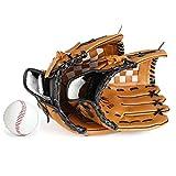 Gants de baseball épais et doux - Pour parent-enfant - Couleur : marron.
