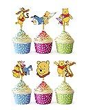 24x Cupcake Topper Picks (Winnie The Pooh)