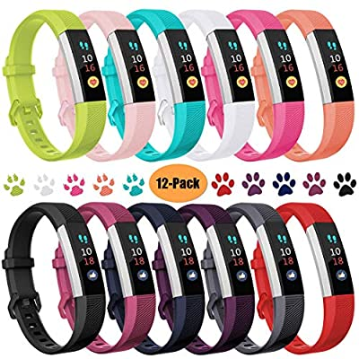 Ouwegaga Bands Compatible for Fitbit Alta/Alta HR/Ace Multi Color Combo