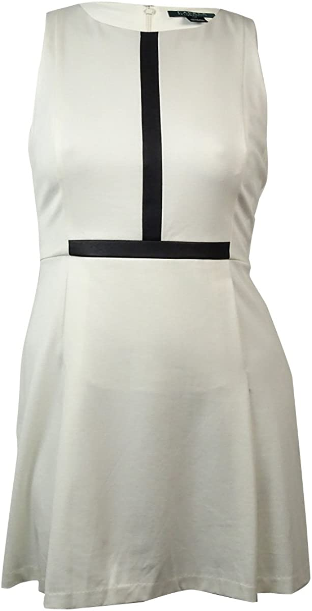 Lauren Ralph Lauren Women's Faux Leather A-Line Dress