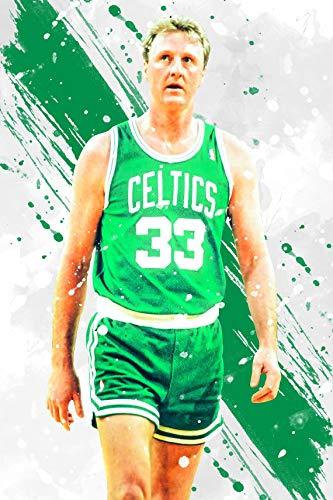 La_rry Bir_d Bos_ton Celtic_s Poster Print, Sports Art, Basketball Print, Kids Room Decor, Man Cave, Gift for Him, Sports Decor 11x17 16x24 24x36 Inch (No Frame)