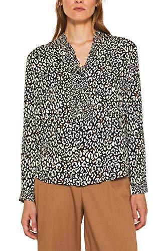 ESPRIT Collection Damen 109Eo1F010 Bluse, Schwarz (Black 001), (Herstellergröße: 36)