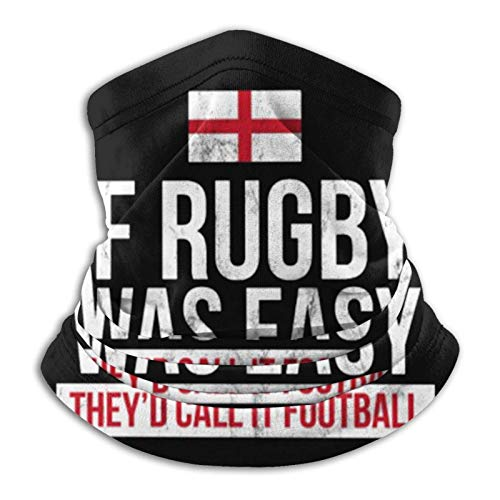 Overlooked Shop Pasamontañas Funny England Rugby - English Rugby Face Cover Neck Polaina Pasamontañas Multifuncional Bandana Outdoor