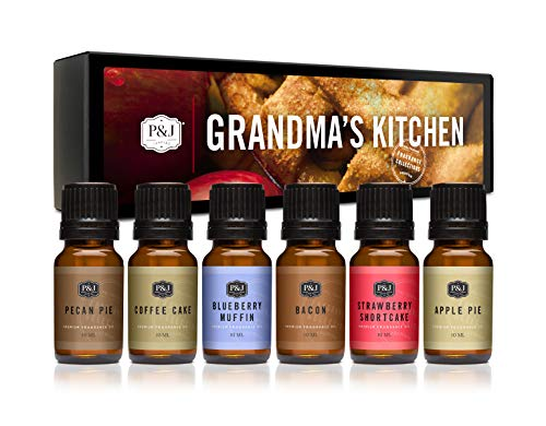 P&J Trading Fragrance Oil   Grandma's Kitchen Set of 6 - Scented Oil for Soap Making, Diffusers, Candle Making, Lotions, Haircare, Slime, and Home Fragrance
