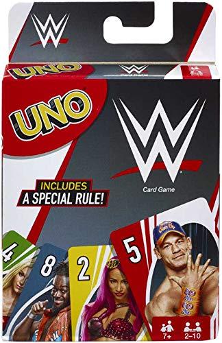 UNO- WWE- Es ist das unterhaltsame, rasante Kartenspiel, das Sie jetzt lieben und das legendäre Charaktere aus der aufregenden WWE enthält!