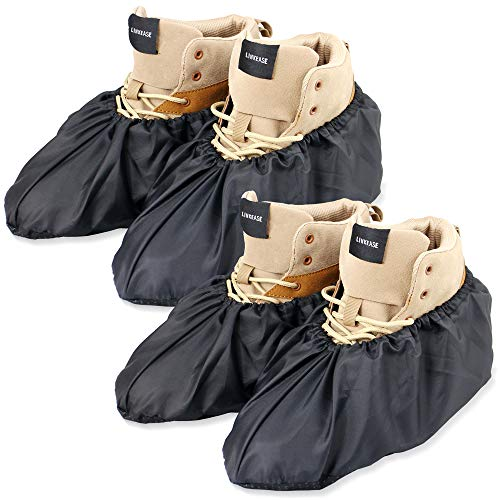 LINKEASE Reusable Boot & Shoe Covers Water Resistant Non Skid and Washable for Real Estate...