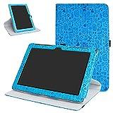 Mama Mouth ASUS ZenPad 10 Z300CG Rotante Custodia, Rotante a 360° Custodia in PU di Cuoio Pelle Caso Case per 10.1 ASUS ZenPad 10 Z300C Z300CG Z300CL Android Tablet,Azzurro