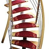 Stufenmatten Treppen-Teppich Läufer Treppentrittstufen Pads ProStair Schritt Teppich Halb Bogen Nicht Beleg Adhesive Wolldecke/Matte for Treppenstufen 5 Größe 3 Styles