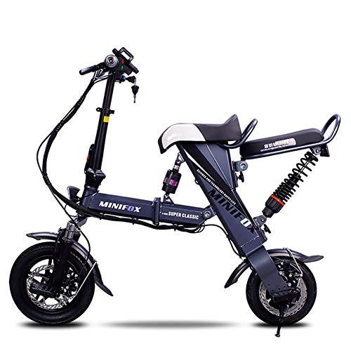 Buy FJW Unisex Mini Electric Bikes 12 Suspension Folding Bike 36V Li-ion Battery Fashion & Smart El...