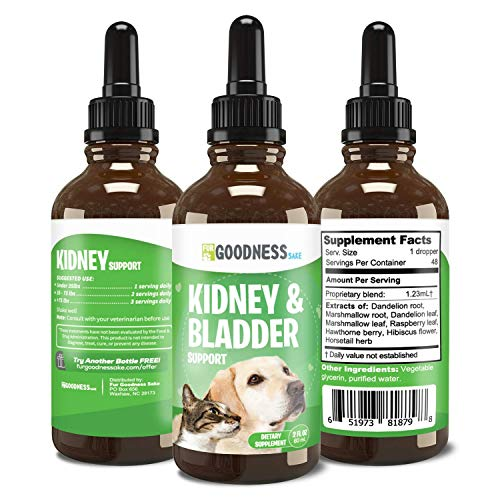 Fur Goodness Sake Kidney and Bladder Support for Dogs - Herbal Bladder Support for Dogs, Bladder Control for Dogs, Promotes Kidney Health for Dogs, Boosts Urinary Tract Health