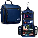 Premium Hanging Travel Toiletry Bag for Men and Women - Large Toiletry Organizer - Waterproof Hygiene Bag with Metal Xxl Swivel Hook, YKK Zippers and 19 Compartments for Toiletries, Makeup, Cosmetics
