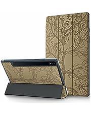 CRABOT Funda Samsung Galaxy Tab A7 T500/T505/T507 Tablet Cover Case Sueño/Despertador automático Ranura Tarjeta Billetera Cubierta Protectora Arbol de la Vida -Dorado