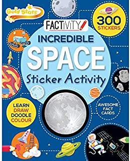 Factivity Incredible Space Sticker Activity - Hardcover