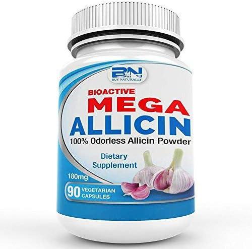 Mega Allicin 100% from Garlic 180 mcg - 90 Fees free Od Direct stock discount 000 vCaps