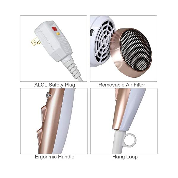 Beauty Shopping Professional Ionic Salon Hair Dryer, Powerful 1875W Low Noise
