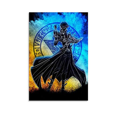 WUZHI Seto Kaiba Poster für Zimmer, ästhetisches Poster, dekoratives Gemälde, Leinwand, Wandkunst, Wohnzimmer, Poster, Schlafzimmer, Malerei, 20 x 30 cm