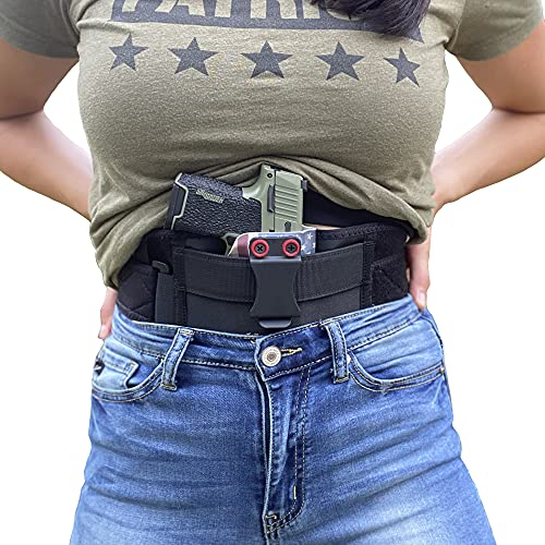 STRAPT-TAC Belly Band Holster ~ Use with Any IWB Kydex Gun Holster for Concealed Carry (kydex Holster not Included)