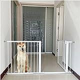 Puerta de Seguridad de Metal Rejilla para Escaleras Barrera de separación para Perros y Gatos, Barrera de seguridad extensible espacio entre barrotes de 5.5cm